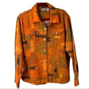 Chico's Burnt Orange Southwest Cotton Jacket